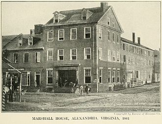 Sons of Confederate Veterans - The Marshall House, Alexandria, Virginia (1861)