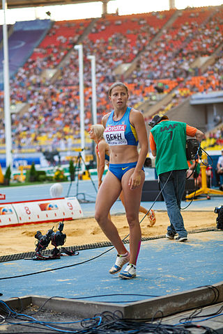 Maryna Bekh (2013 World Championships in Athletics) 05.jpg