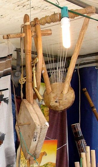 Culture of Eritrea - An Eritrean krar and masinqo is a common instruments in Eritrea.