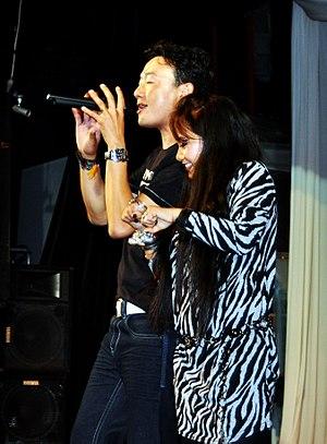 Mausami Gurung - Mausami Gurung and Deepak Limbu performing on stage at Losar event organised by Tamu Samaj Australia in 2011