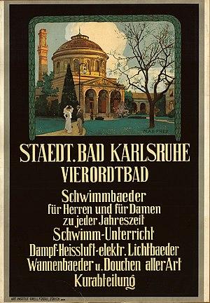 Max Frey - Image: Max Frey Staedtisches Vierordtbad Karlsruhe, um 1900