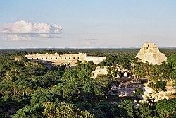 Ruínas de construções maias no México