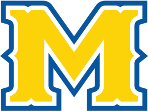 "Battle of the Border (Lamar–McNeese State) - Image: Mc Neese State ""M"" logo"