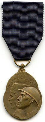 Medaille du Volontaire Combattant 1914 18 Belgique Avers.jpg