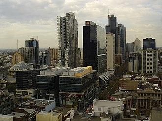Queen Victoria Village - Queen Victoria Village in Melbourne CBD in May 2008.