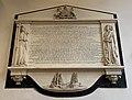 Memorial to James, Lord de Saumarez in Town Church, Guernsey.jpg