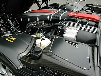 Front-engine, rear-wheel-drive layout - Image: Mercedes Benz SLR Mc Laren engine