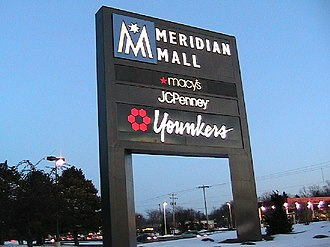 Meridian Mall - Meridian Mall entrance sign along Grand River Avenue