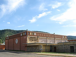 Mescalero - Image: Mescalero Apache Tribal Offices Community Center New Mexico