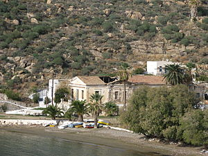 Serifos - Headquarters of the former mine company of Serifos in Megalo Livadi