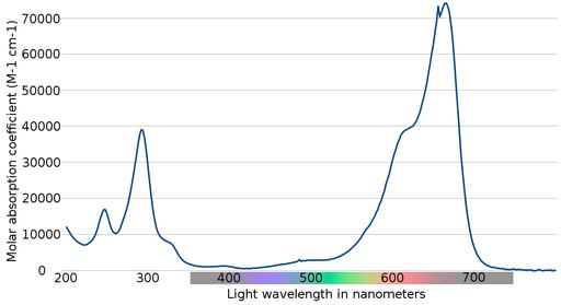 Methylene blue absorption spectrum