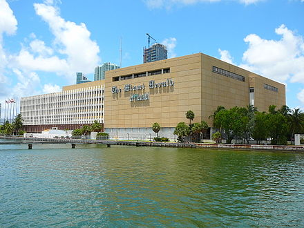 Former headquarters of The Miami Herald Miami Herald building.jpg