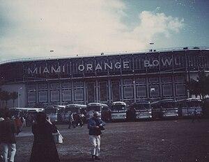 Super Bowl V - The Miami Orange Bowl during Super Bowl V