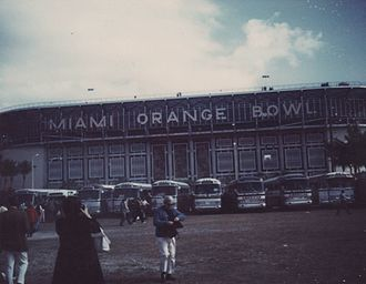 Super Bowl V - The Miami Orange Bowl during Super Bowl V