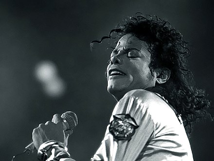 "With ""Best Mistake"", Grande became the first act since Michael Jackson (pictured in 1988) to have three songs in the top ten of the US Digital Songs chart on the same week. Michael Jackson1 1988.jpg"