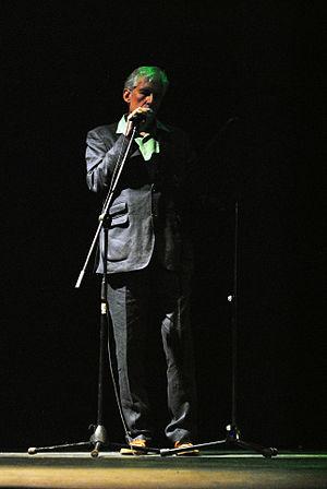 Michel Bulteau - The poet reading Mexico City Blues of Jack Kerouac in Poesía en voz alta festival in Mexico City.