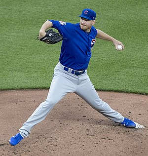 Mike Montgomery (baseball) - Montgomery with the Chicago Cubs in 2017