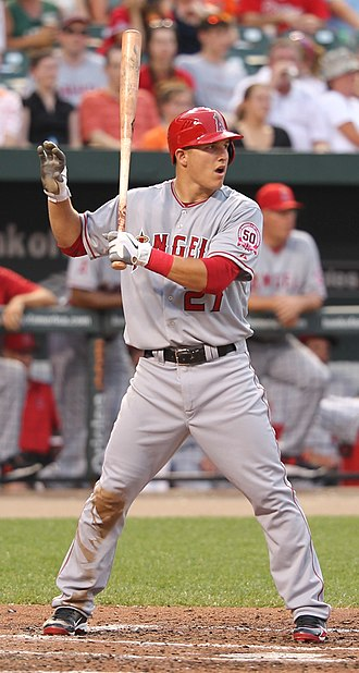 Mike Trout - Trout with the Angels in 2011