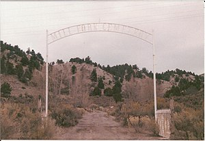The entrance to Mill Fork Cemetery