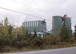 Washington State Route 530 - A mill located on SR 530 north of Darrington