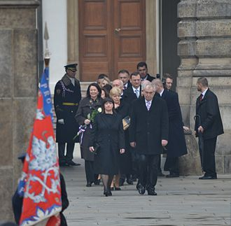 Ivana Zemanová - Ivana Zemanová and Miloš Zeman at presidential inauguration (March 8, 2013)