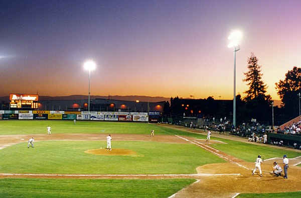 Class A-Advanced California League game in San Jose, California, 1994 Minor league.jpg