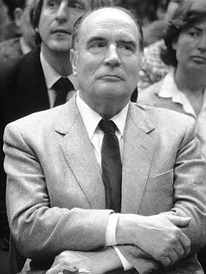 François Mitterrand - Image: Mitterrand (arms folded)