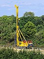 Mobile construction crane at Southwater, West Sussex, England.jpg
