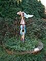 Modern milepost, Marlborough, Wiltshire - geograph.org.uk - 294172.jpg