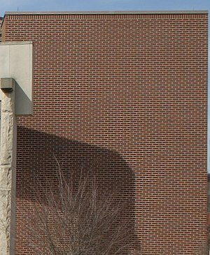 Aliasing - Properly sampled image of a brick wall (requires screen of sufficient resolution to prevent  moiré pattern)
