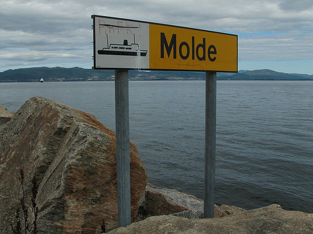 Molde sign, Norway 2009