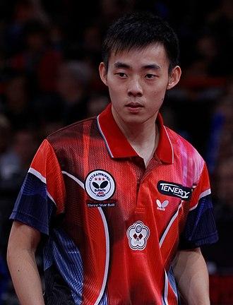 Chen Chien-an - Image: Mondial Ping Men's Doubles Semifinals 15