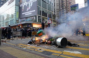 Mong Kok Civil unrest Fire in Soy Street.jpg