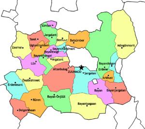 Töv Province - Sums of Töv