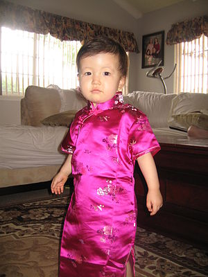 Mongolian Americans - Mongolian-American child wearing traditional Mongolian deel