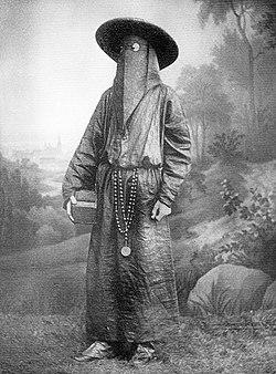 19th century Italian Monk in funeral attire