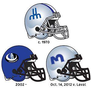 Montreal Carabins - Montreal Carabins helmets