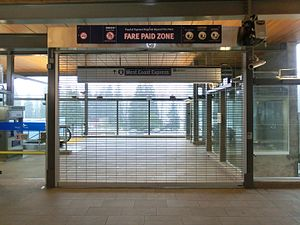 Moody Centre station - West Coast Express entrance