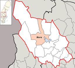 Kort over Mora kommun i Sverige
