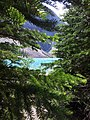 Moraine Lake through Trees - panoramio.jpg
