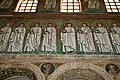 Mosaic of Procession of Saints, Basilica of Sant'Apollinare Nuovo, Ravenna, Italy (6124846545).jpg