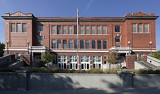 Moscow High School - 1912 Center in 2012; MHS until 1939
