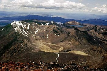 Mount Tongariro in the Tongariro national park...