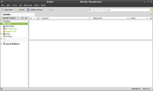 Mozilla Thunderbird 3.0.1 on Linux Mint 8