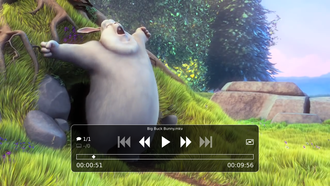 Mpv (media player) - Image: Mpv playing Big Buck Bunny