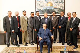 Bethlehem Convention Palace - Mr. Saed Khoury at the Convention Palace with the Palace Management