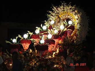 Libagon, Southern Leyte - Caro floral decoration with the Our Lady of Mt. Carmel