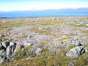 Frost boil - Mud boils near Lapporten, Sweden
