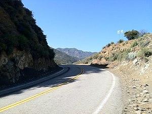 Mulholland Highway - Sandstone Peak as seen from Mulholland Highway