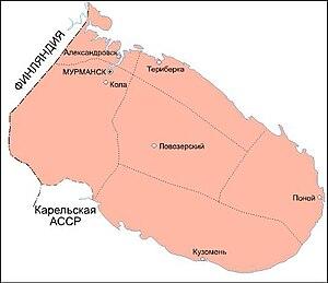 Murmansk Okrug - Map of Murmansk Okrug in 1931